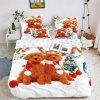 3-dílné povlečení vánoční pejsci 3D bílá 140x200 na jednu postel