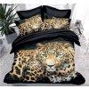 7-dílné povlečení leopard 3 D černá 140x200 na dvě postele