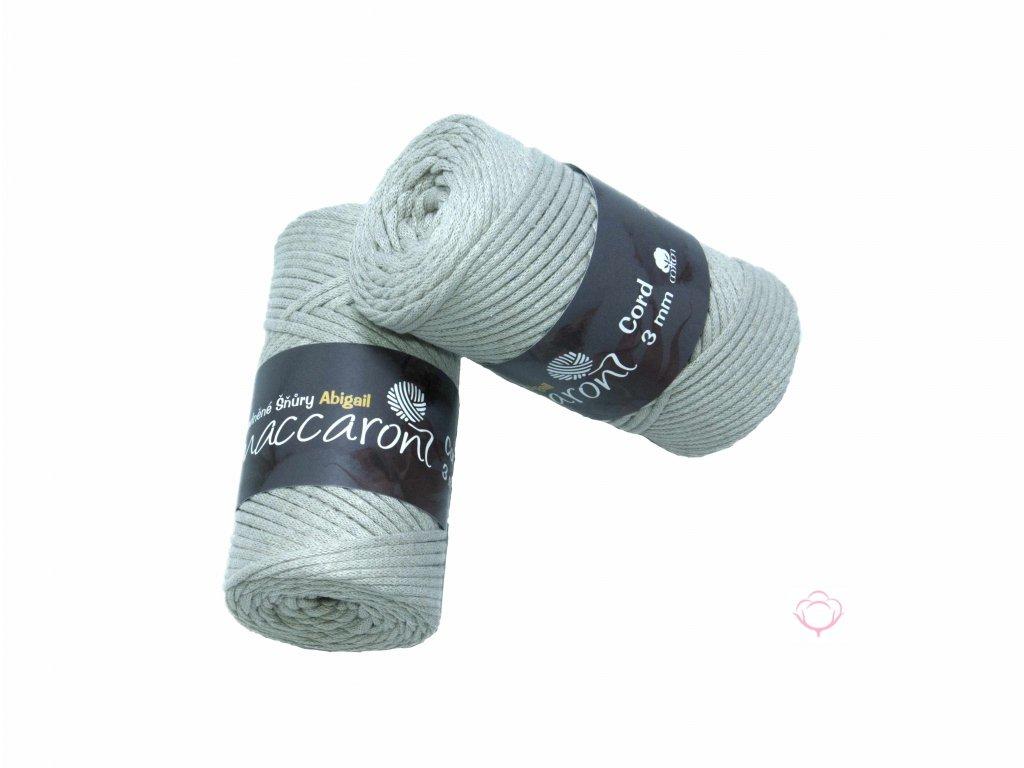 bavlnena snura abigail 3 mm kremove seda 35