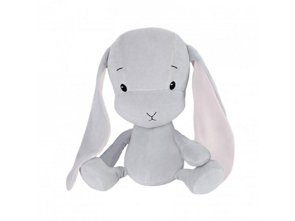 Effík Bunny šedý s růžovými oušky - L