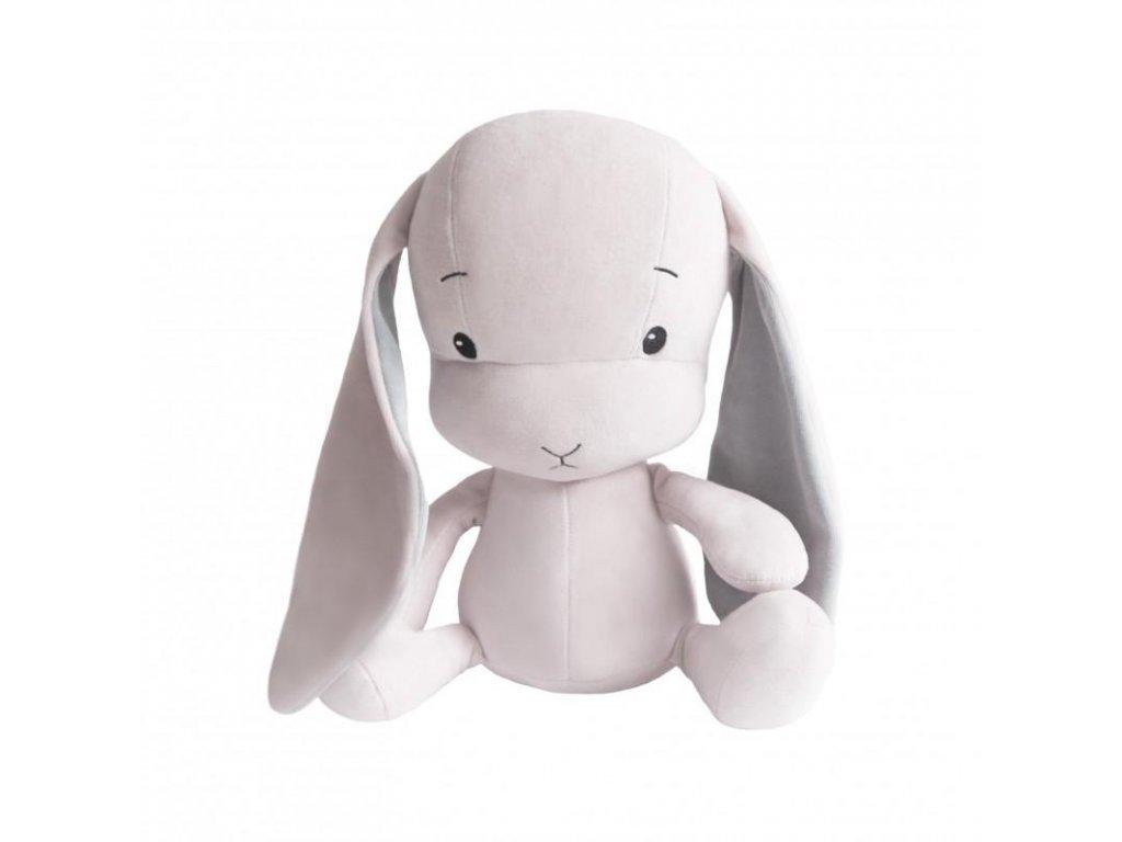 Effík Bunny růžový s šedými oušky - M