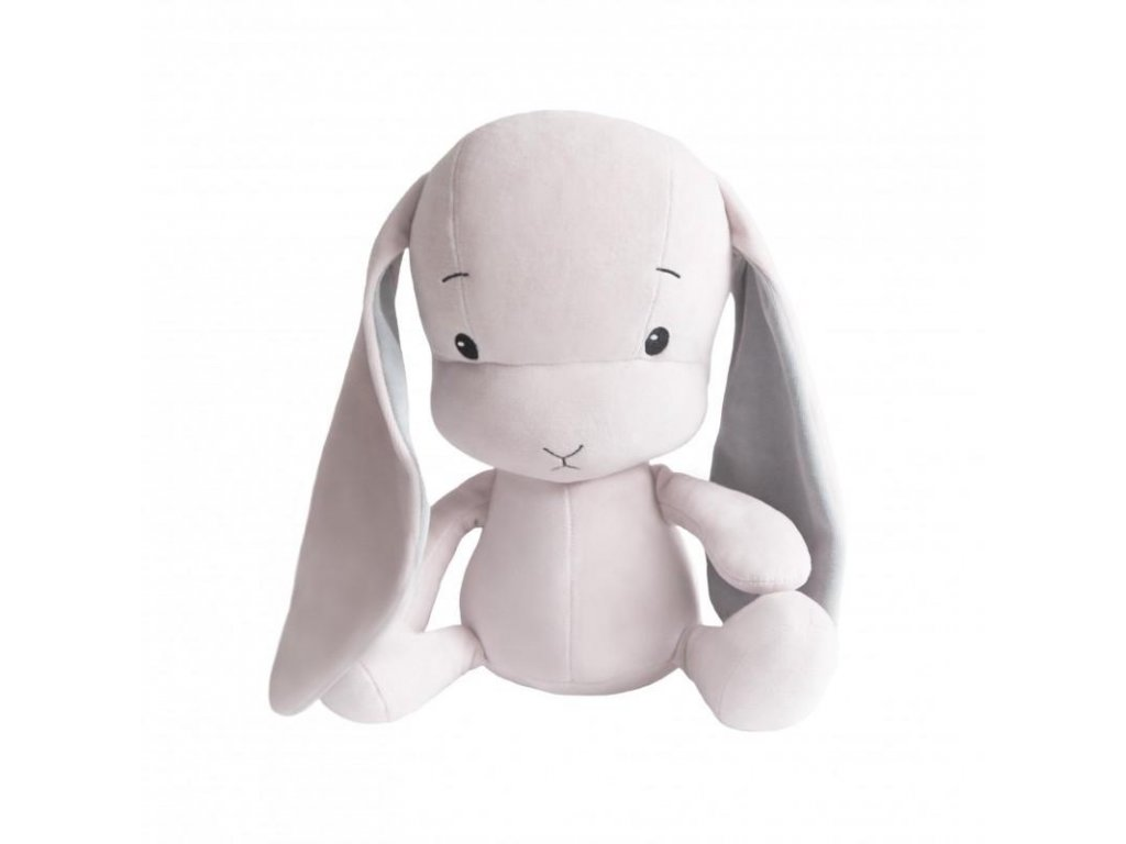 Effík Bunny růžový s šedými oušky - L