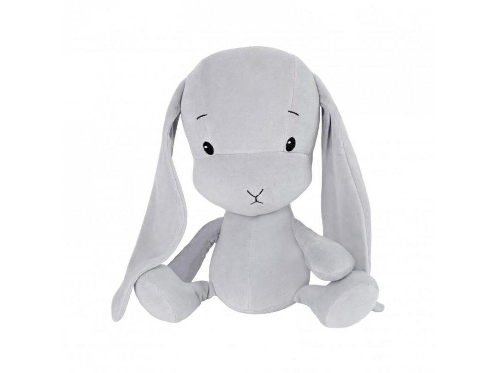 Effík Bunny šedý s šedými oušky - L