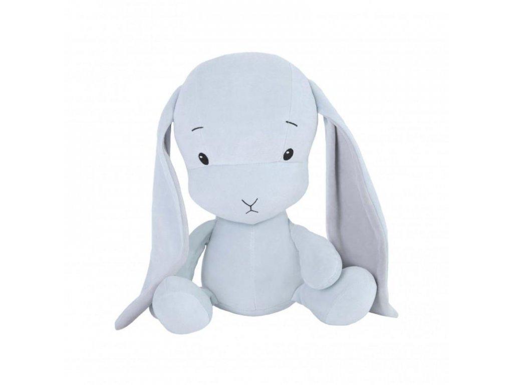 Effík Bunny modrý s šedými oušky - L