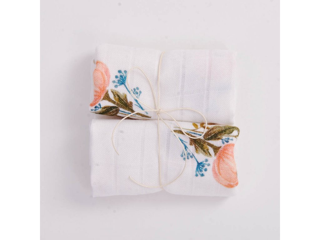 598 floral bamboo 2pack