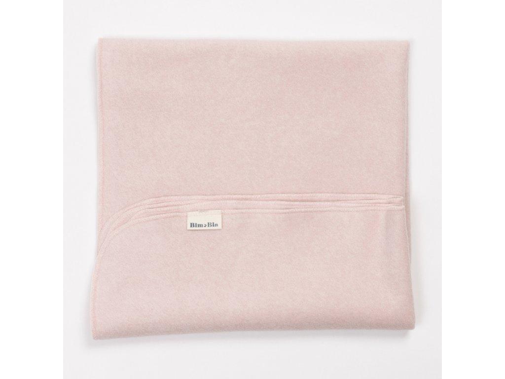 Bavlněná dečka Fleece Růžová