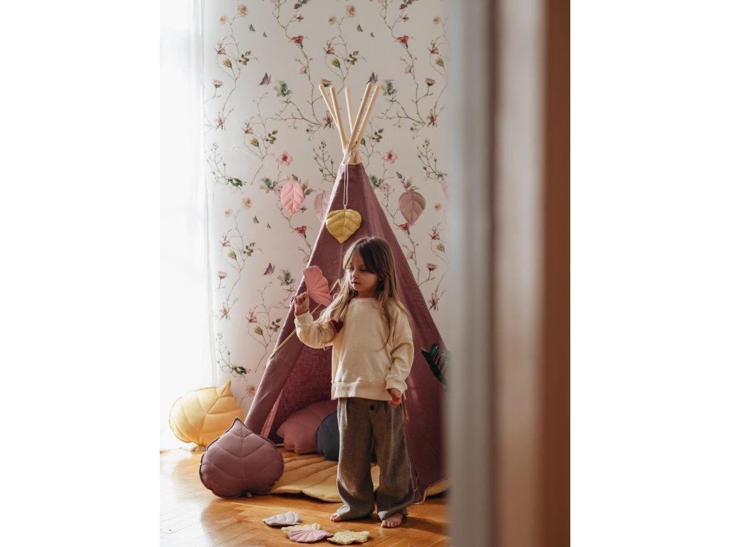 linen tipi marsala room decoration interior design playing room moimili(5)