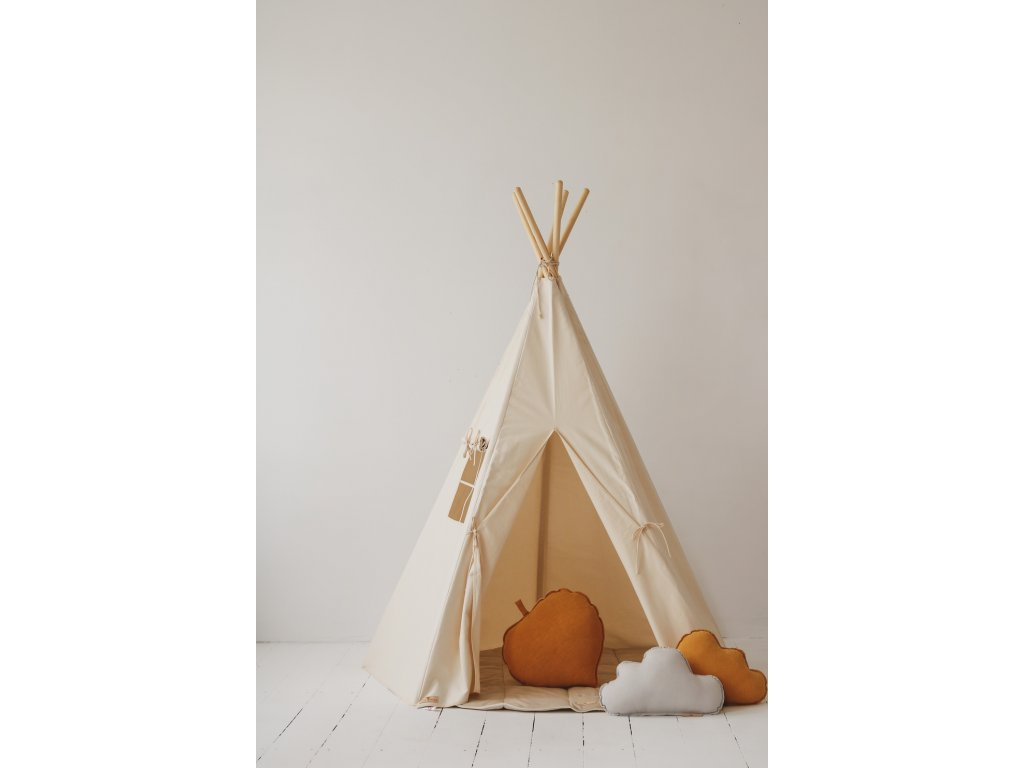 tipi classic beige child room decoration interior design playing room moimili (2)
