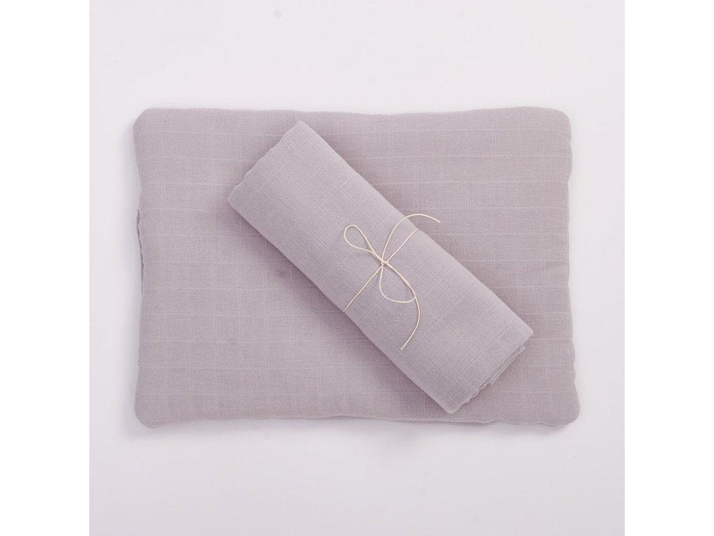 Komplet z organické bavlny - šedý