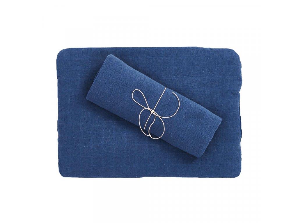 Komplet z organické bavlny - modrý