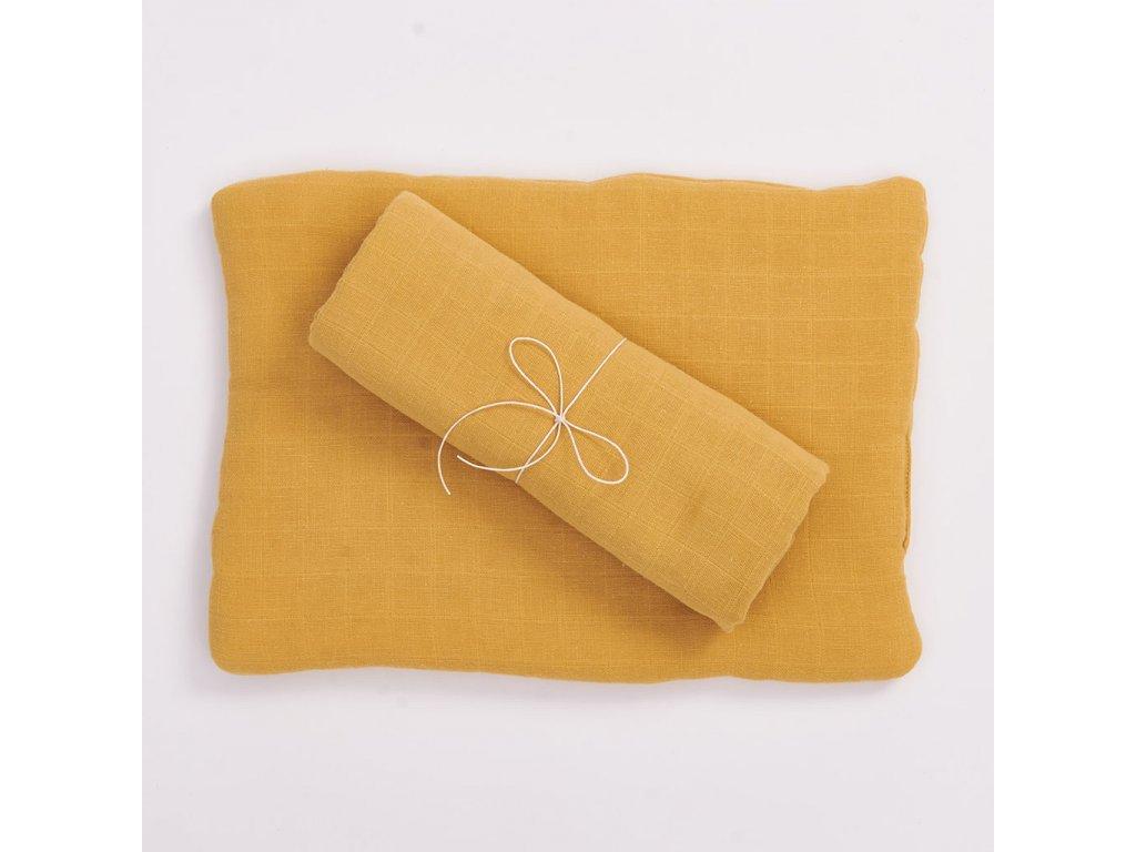 Komplet z organické bavlny - okrový