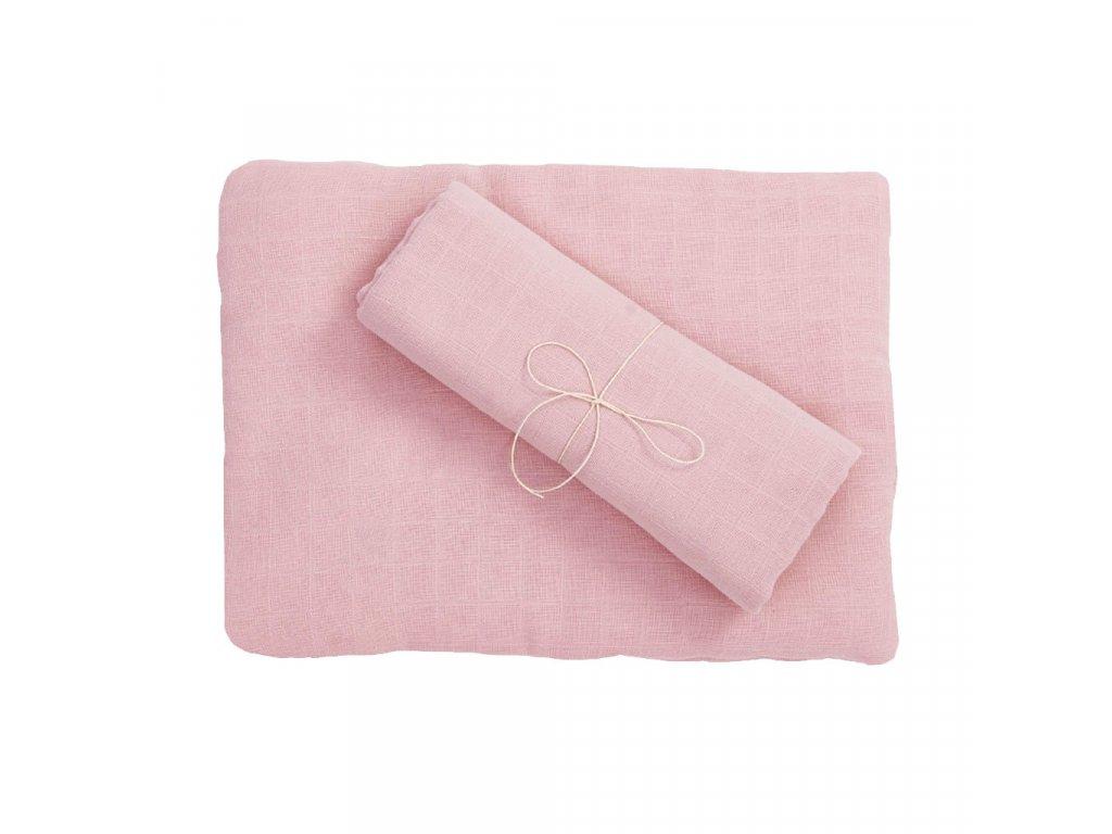Komplet z organické bavlny - růžový