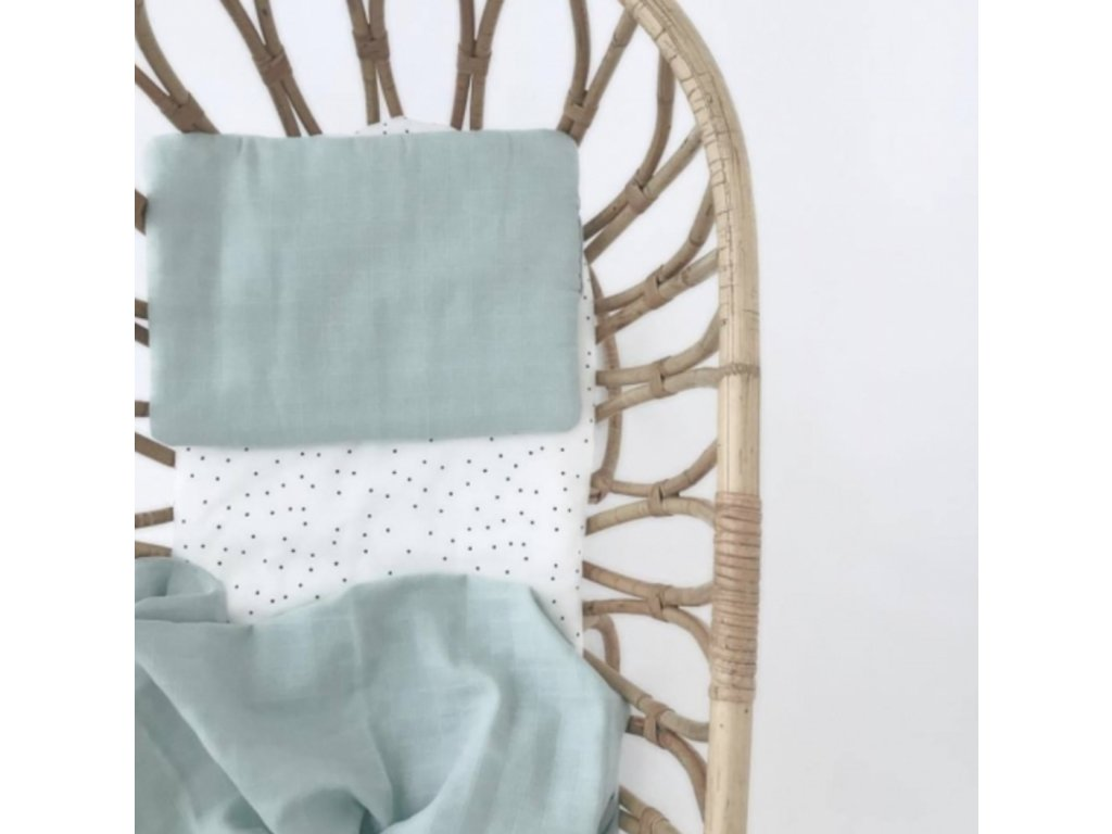 Komplet z organické bavlny - mentolový