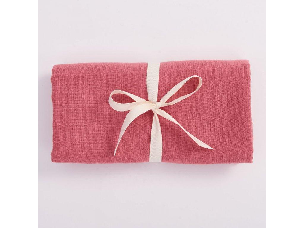 682 organic swaddle pink