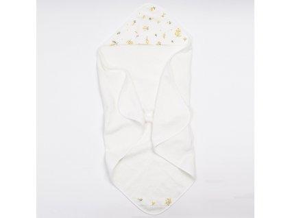 Bambusový ručník s kapucí Yellow Meadow