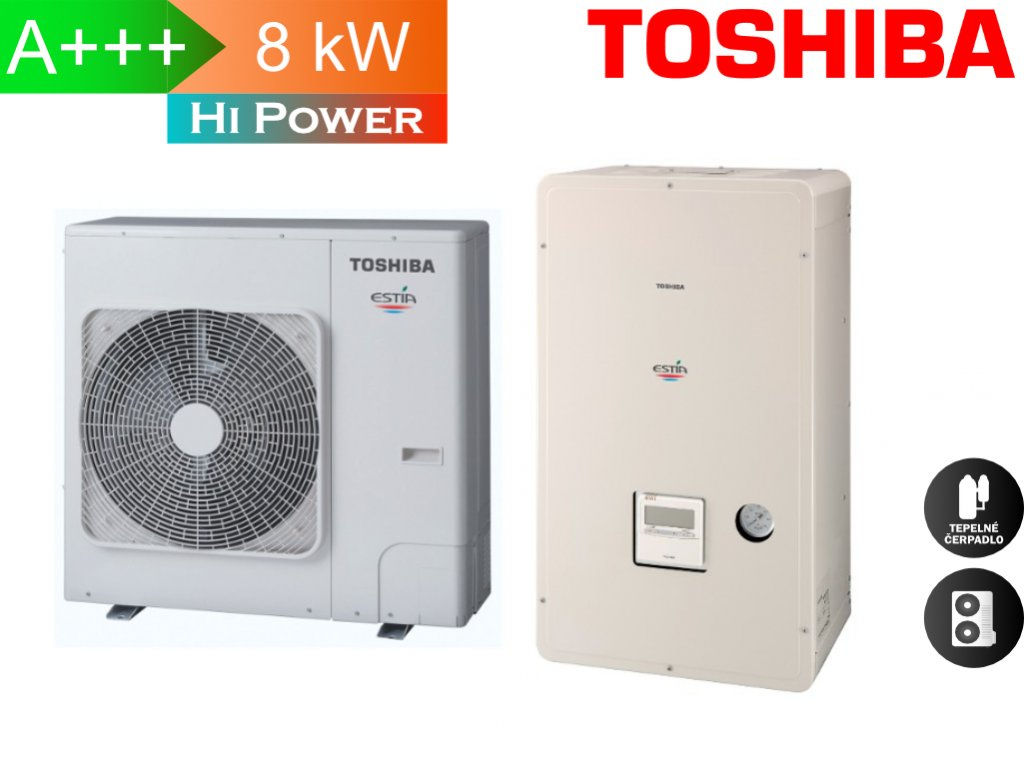 Toshiba Estia 8 kw hi power