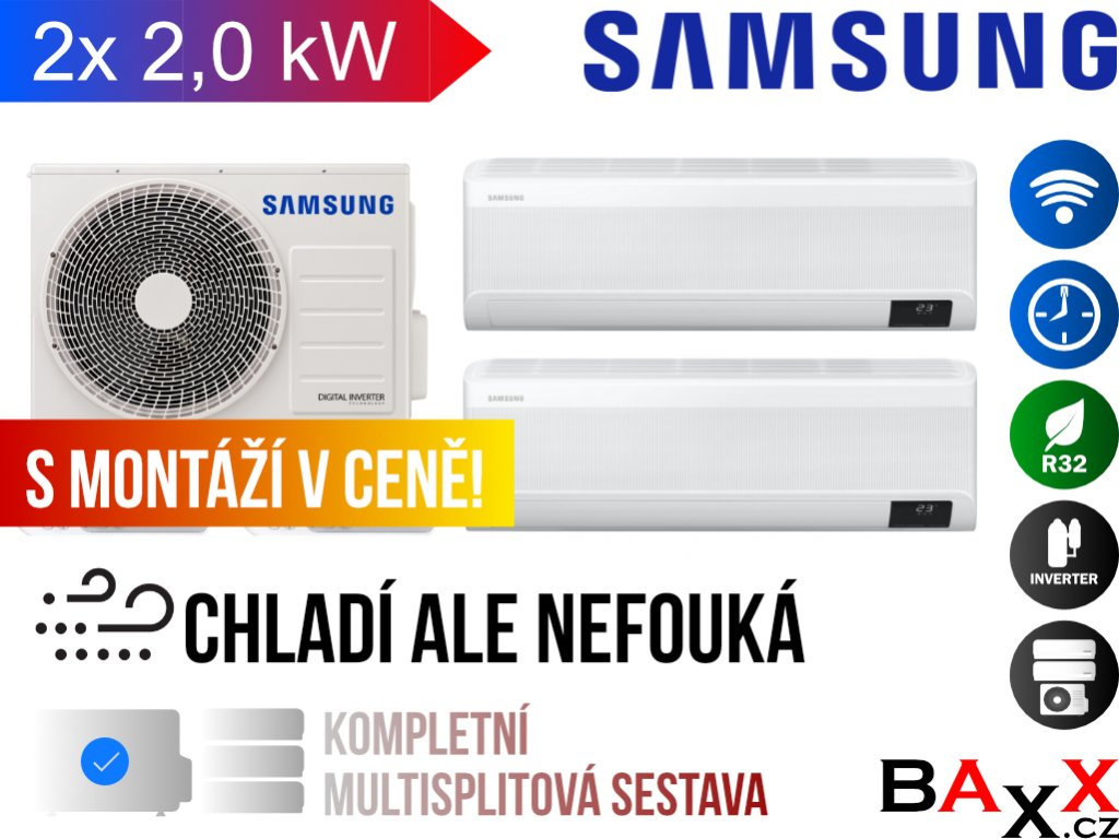 Samsung multisplit wind free comfort 2x1 2,0 kW
