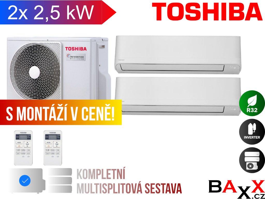 Toshiba Seiya multisplit 2x 2,5 kW