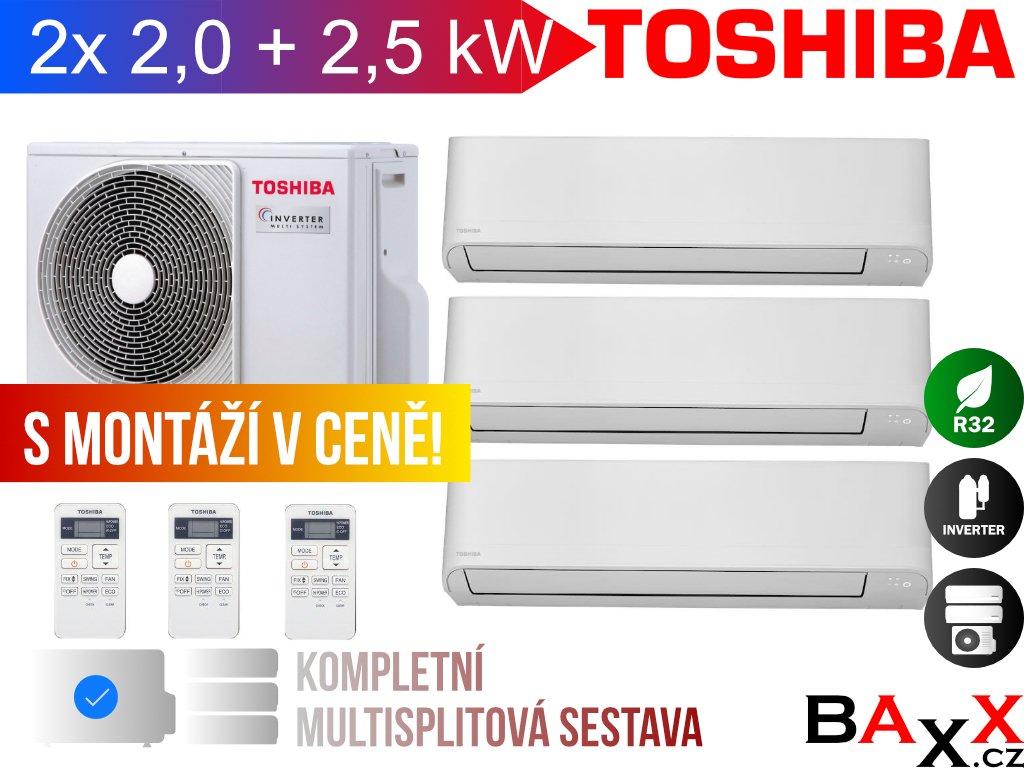 Toshiba Seiya multisplit 2x 2,0 + 2,5 kW
