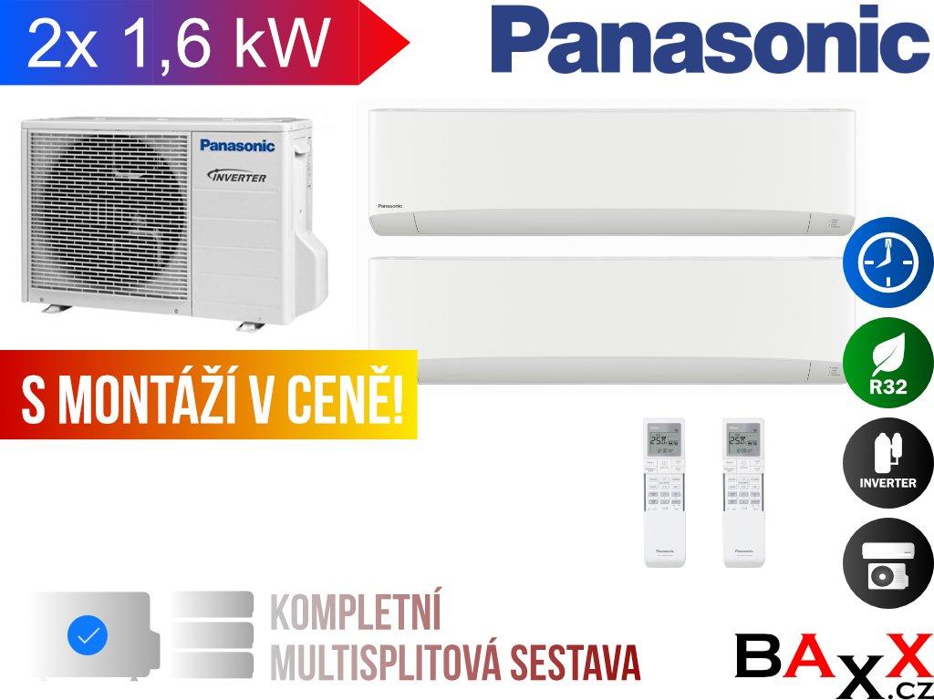 Multi Split Panasonic Etherea 2x 1,6 kW