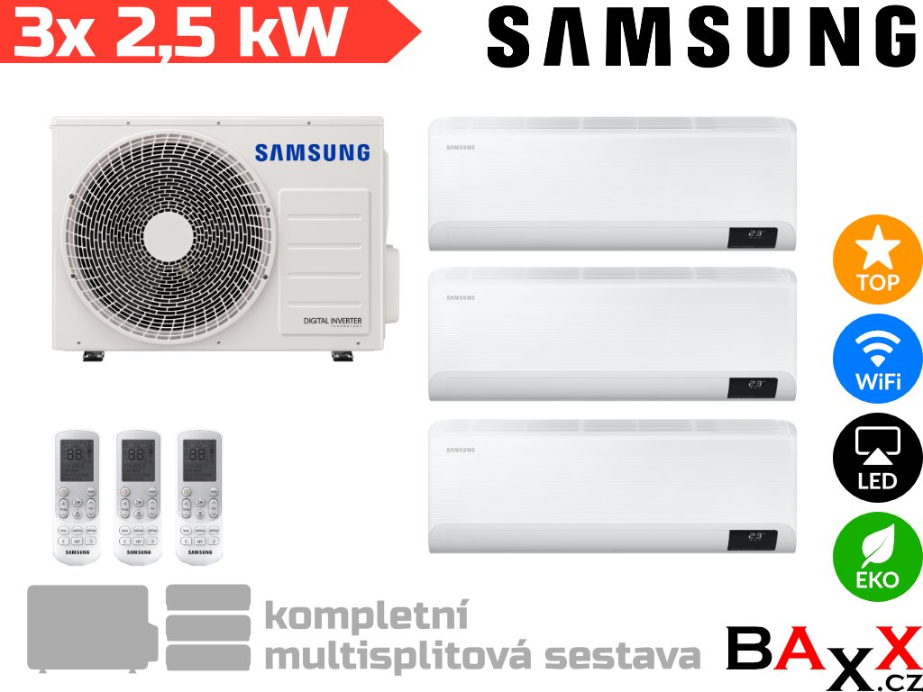 Samsung FJM WinddFree Comfort 3x 2,5 kW+ 5,2 kW