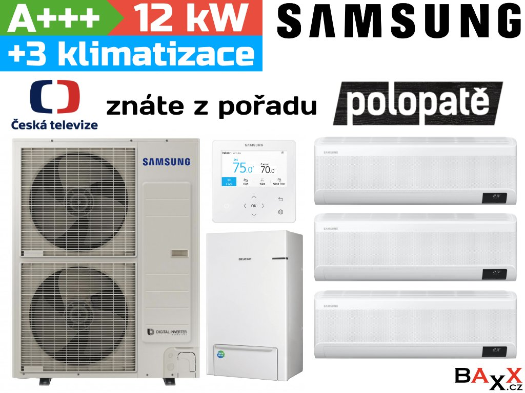 Samsung EHS TDM Plus + 3 klimatizační jednotky