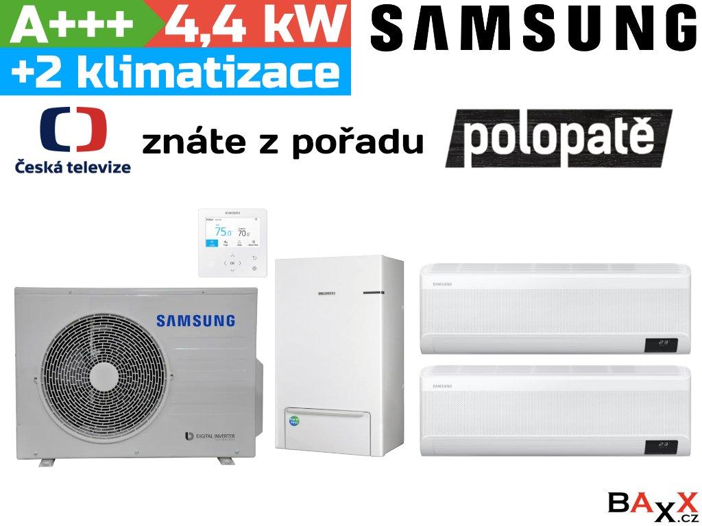 Samsung EHS TDM Plus 4,4 kW + 2 klimatizační jednotky