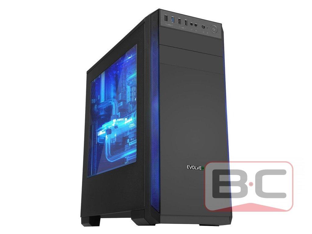 Herní PC, Intel Core i3-6100, 8GB RAM DDR4, RX470 4GB, 60GB SSD, 500GB HDD