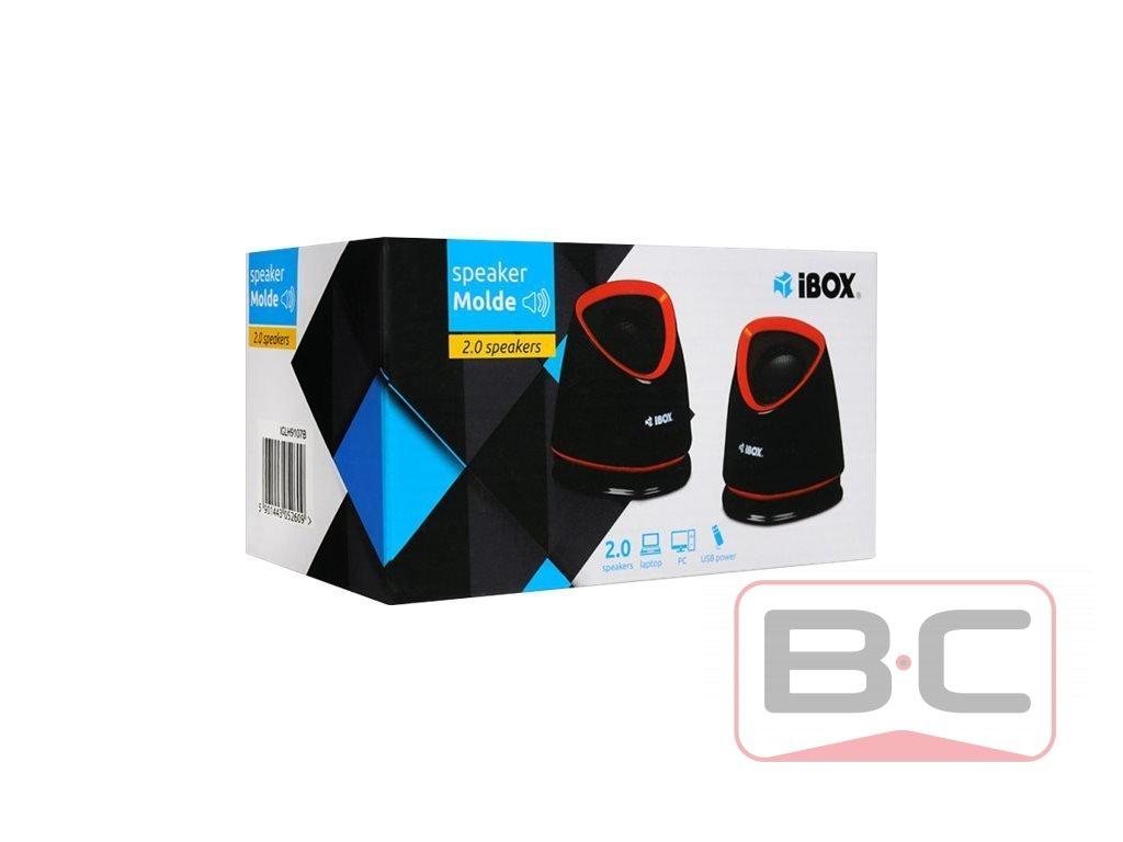 IBOX Reproduktory Molde USB Power Černá BazarCom.cz