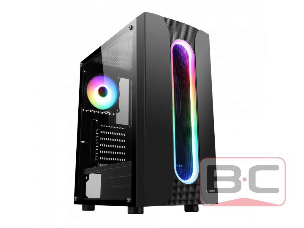 Herní PC Spartan, Intel core i5-6500, 16GB RAM DDR4 2133MHz, 512GB SSD NVMe M.2, 1TB HDD, NVIDIA GeForce 1050Ti 4GB