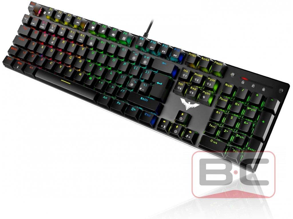 Herní mechanická klávesnice HAVIC HV-KB432L-LED