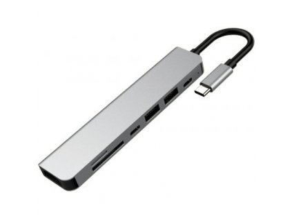 Dokovací stanice s USB-C, 3x USB 3.0, USB 2.0, micro SD, SD, USB-C, HDMI. VGA, GLAN BazarCom.cz