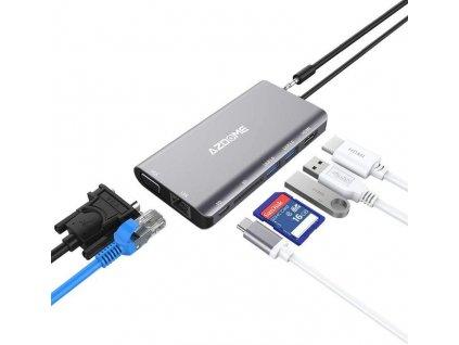 Dokovací stanice s USB-C, 2x USB 3.0, SD, HDMI, USB-C, GLAN, VGA Bazarcom.cz