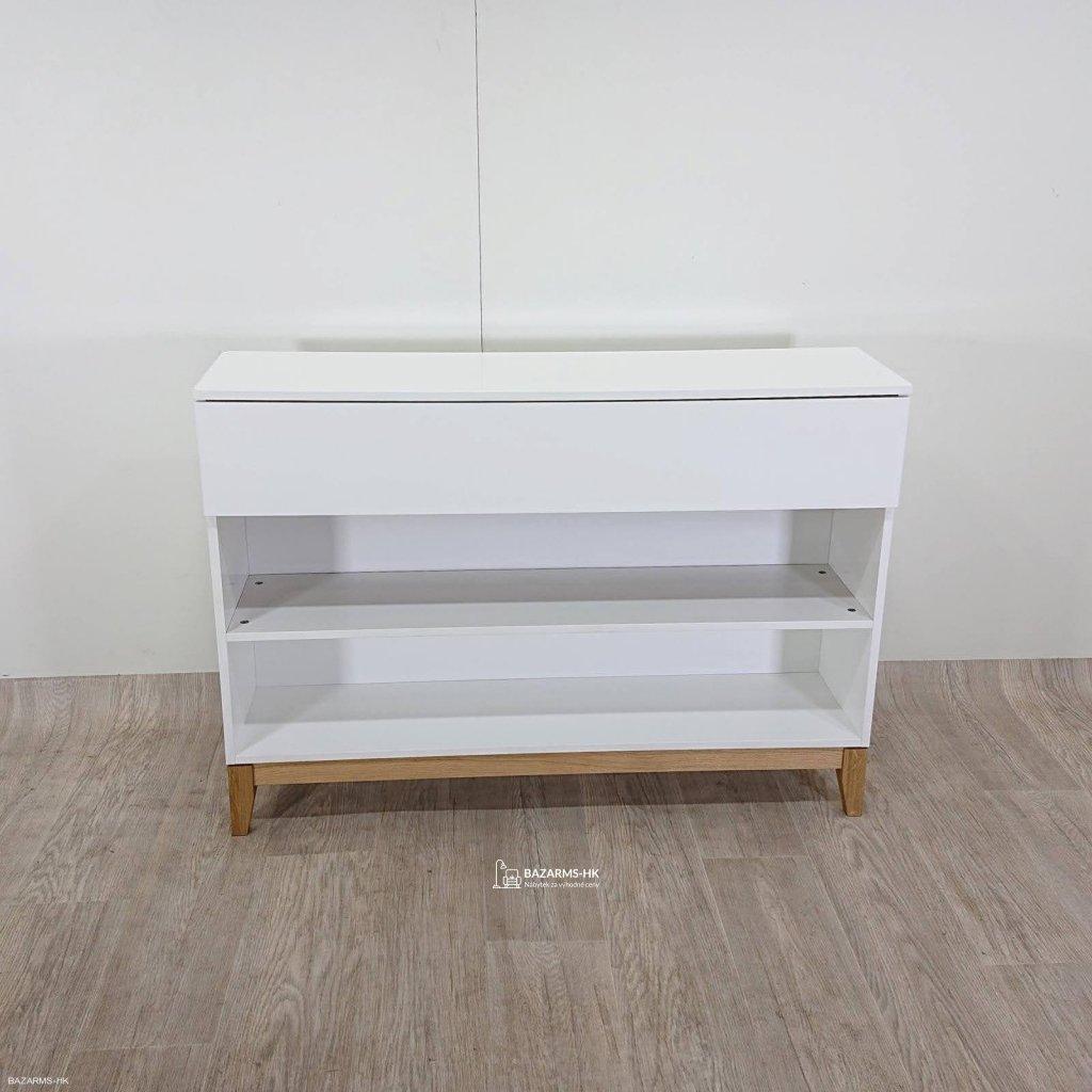 Bílá komoda Woodman Blanco Bookcase