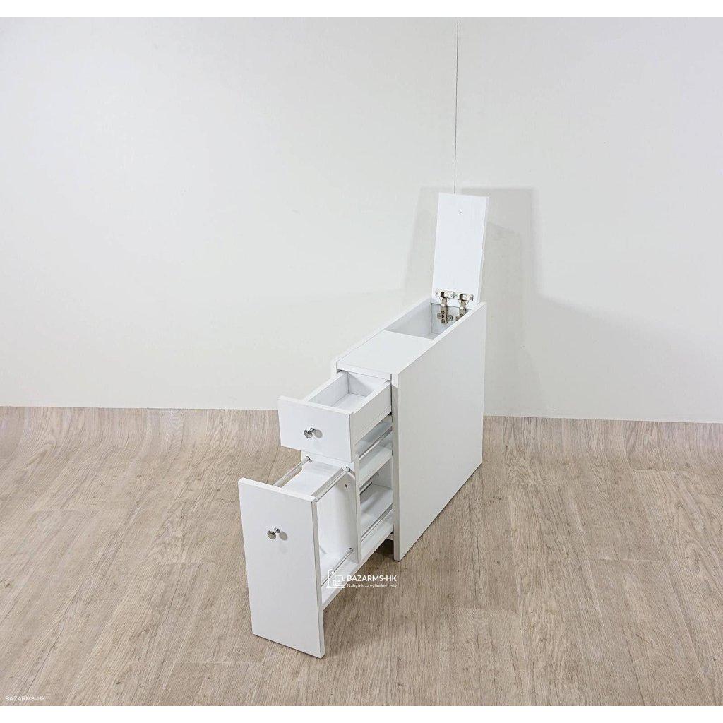 Bílá koupelnová výsuvná skříňka Garetto