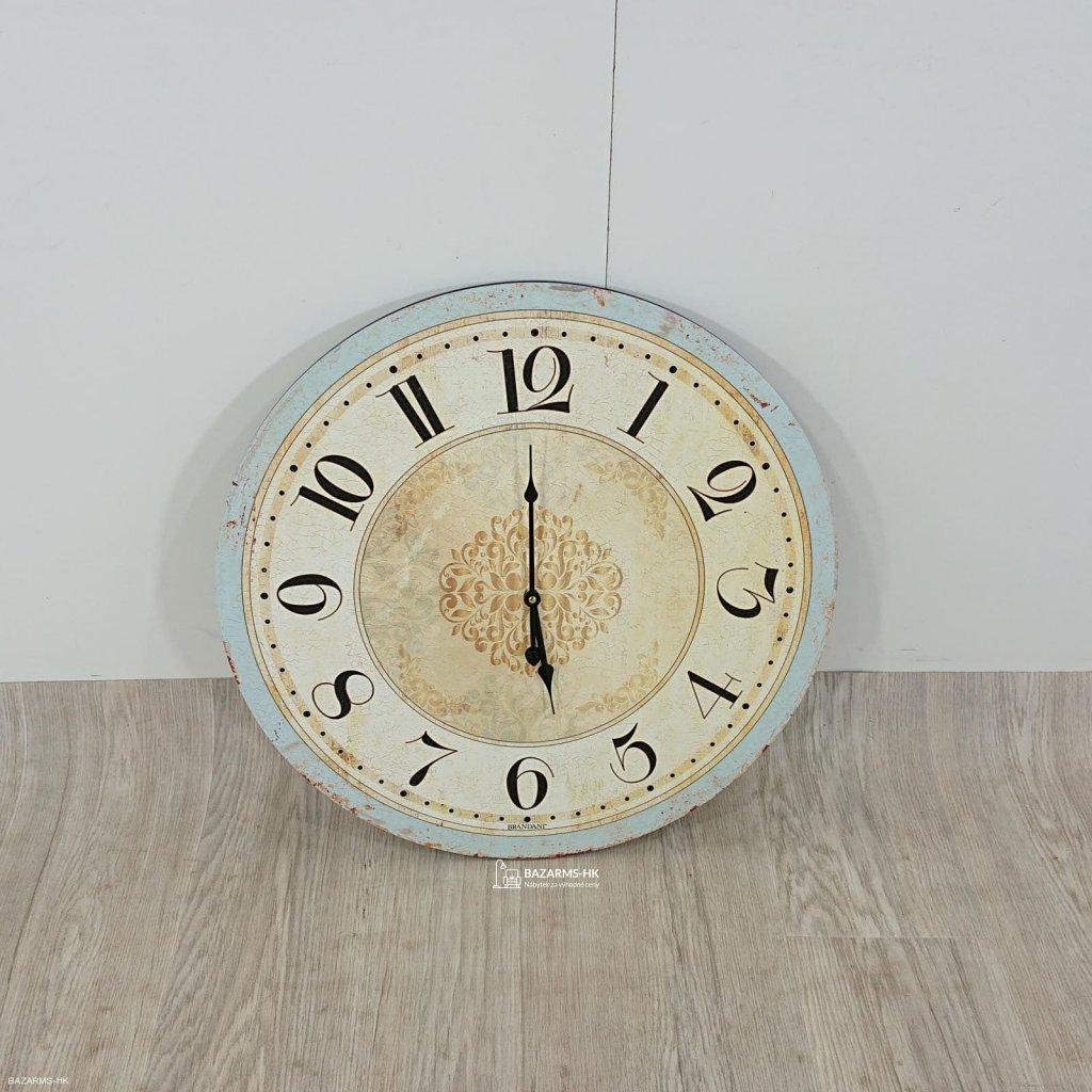 Bílé nástěnné hodiny Brandani Vintage