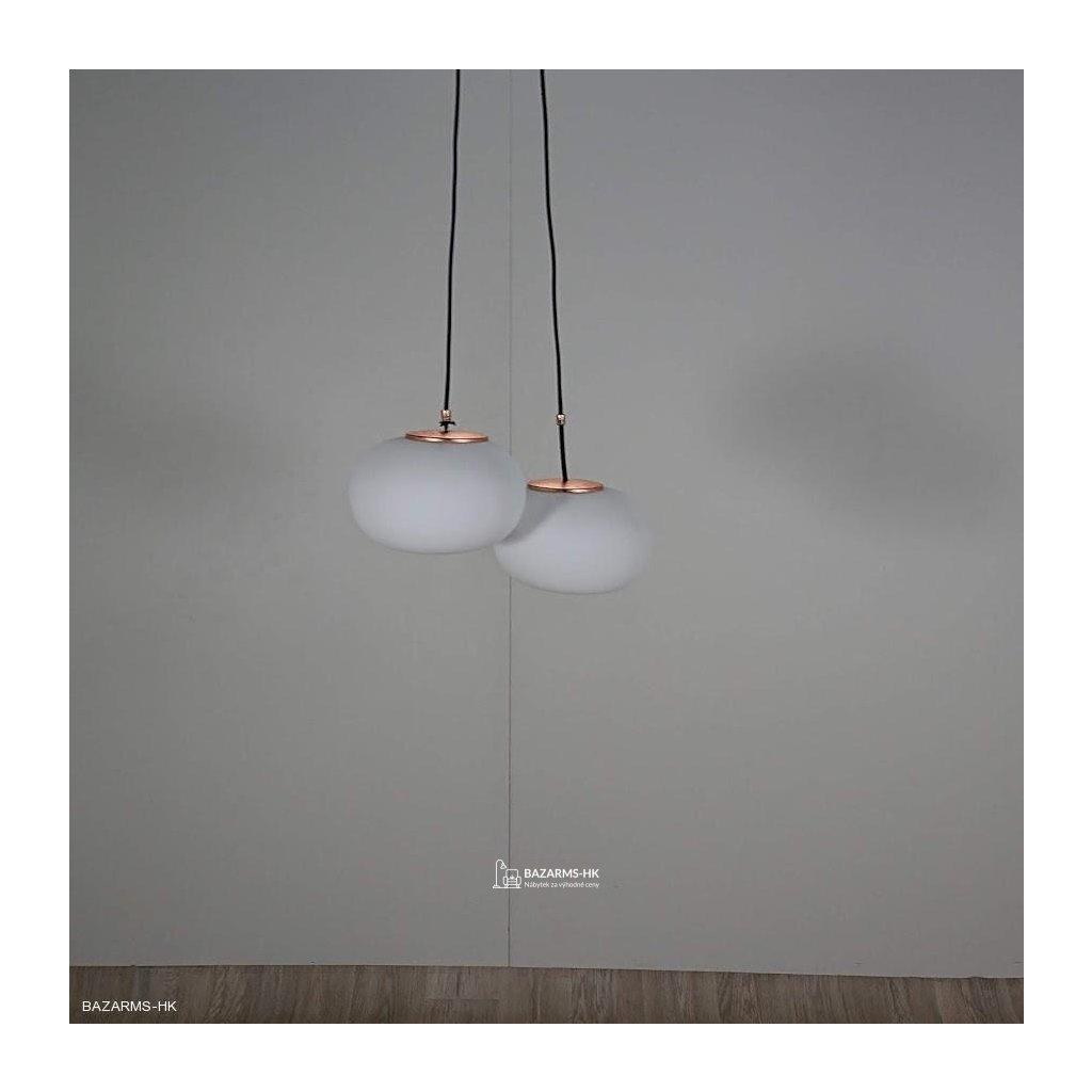 Bílé závěsné svítidlo Sotto Luce DOSEI