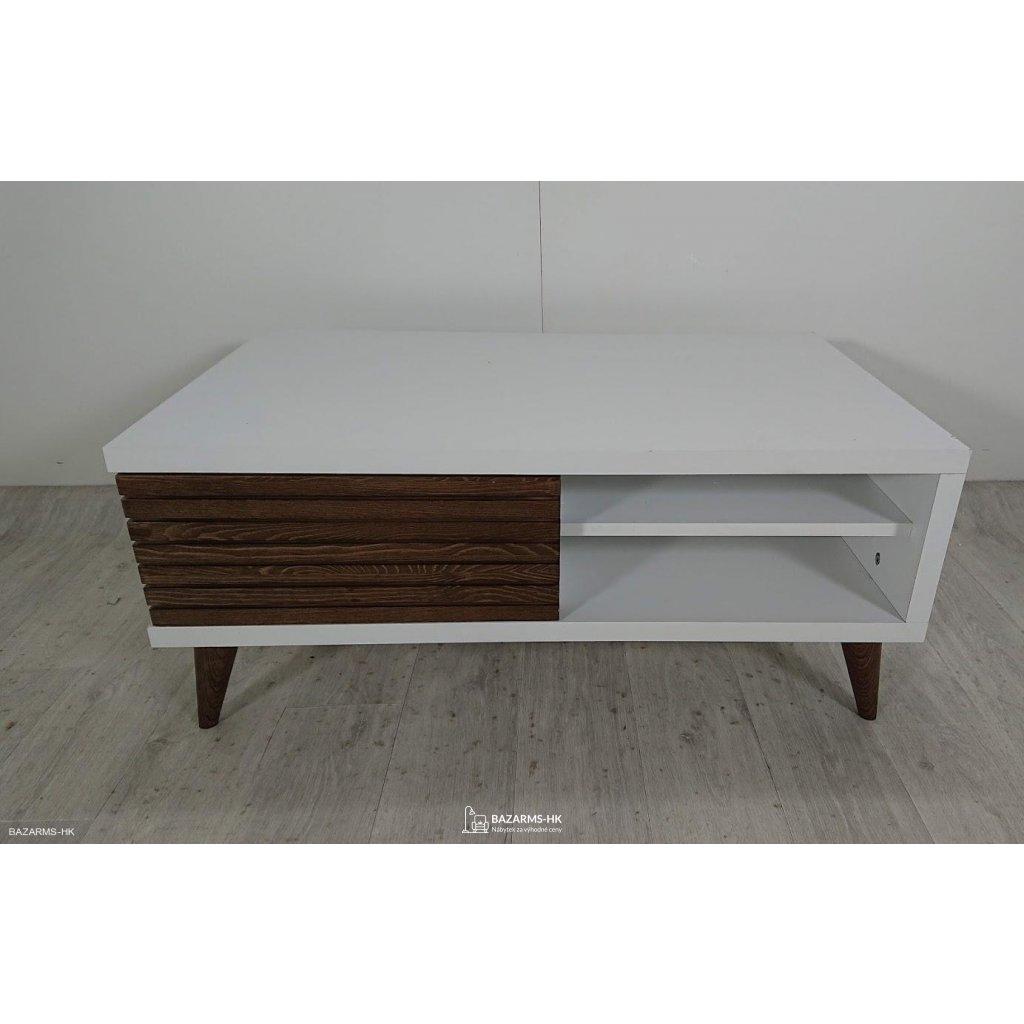 Bílý konferenční stolek Grande