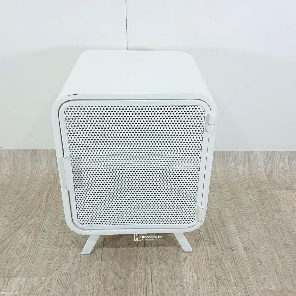 Bílý kovový noční stolek La Forma Wyatt