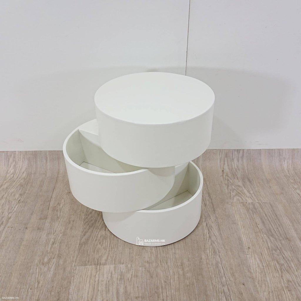 Bílý odkládací stolek Actona Pop