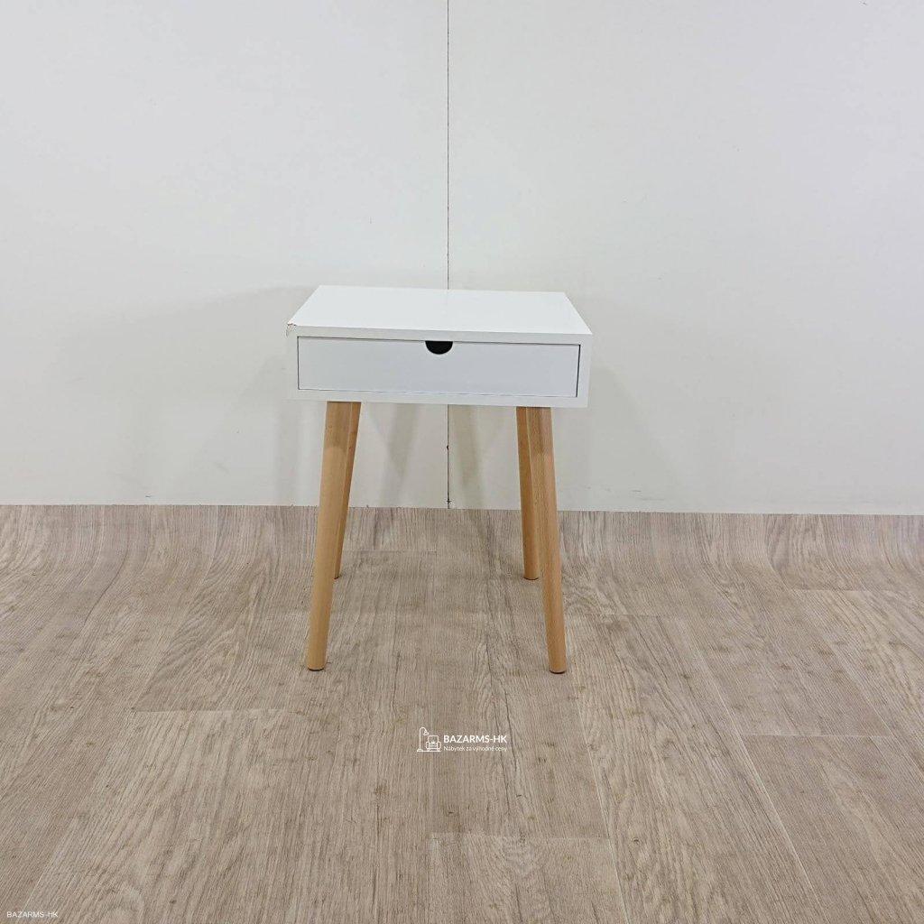 Bílý odkládací stolek Tomasucci Turneta