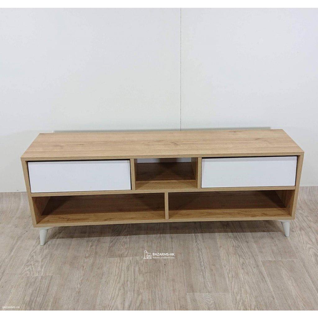 Bílý TV stolek Garetto Glasgow