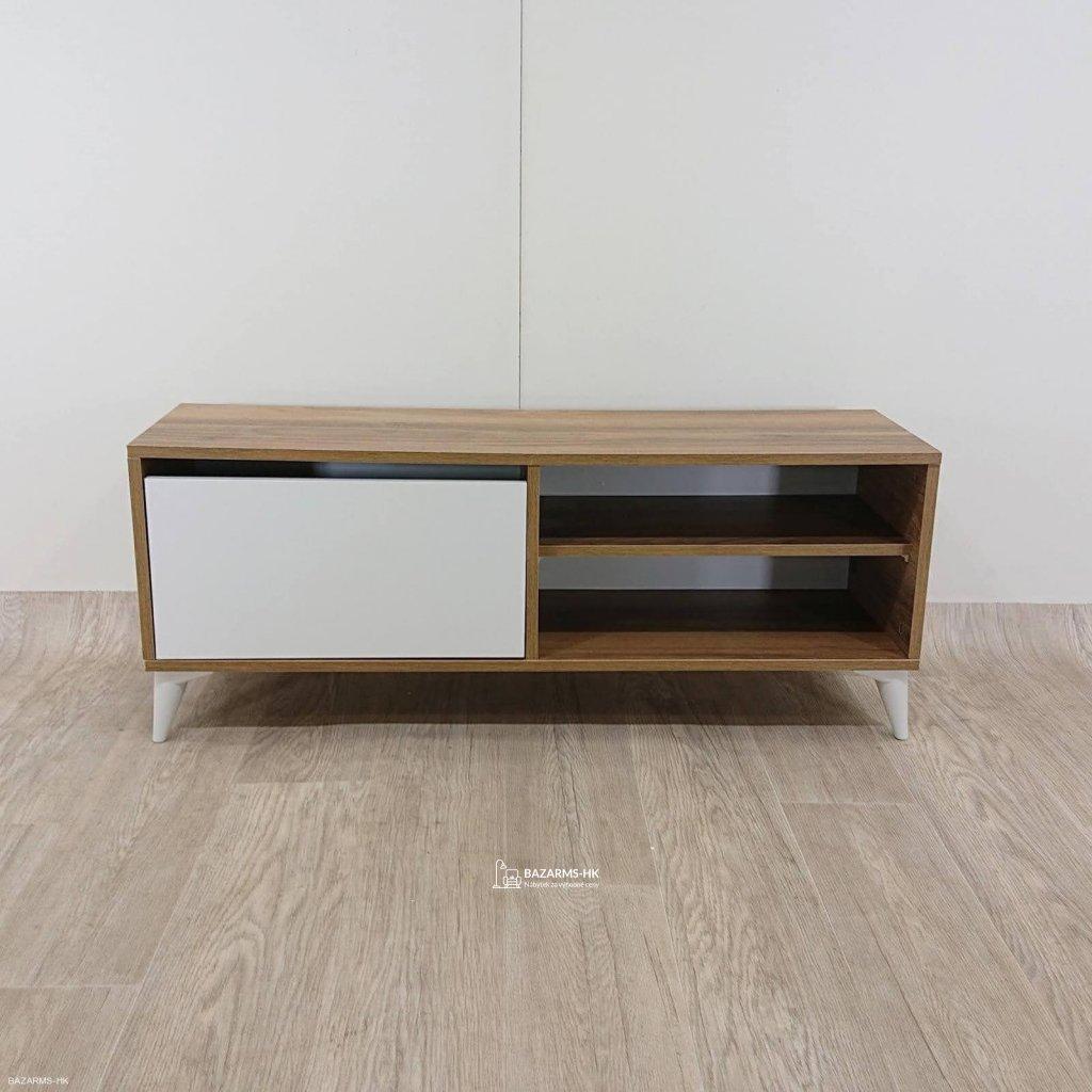 Bílý TV stolek Garetto Maku