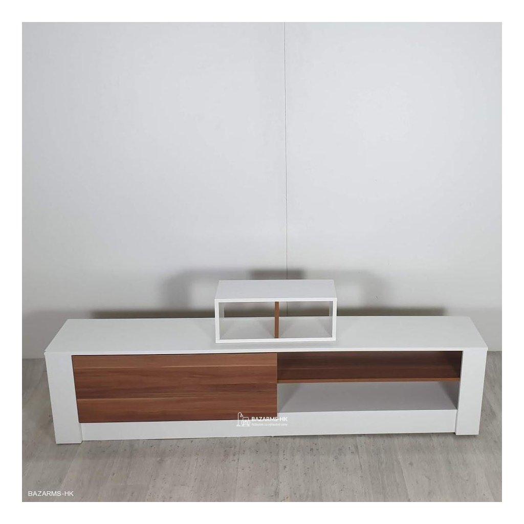 Bílý TV stolek Gomez
