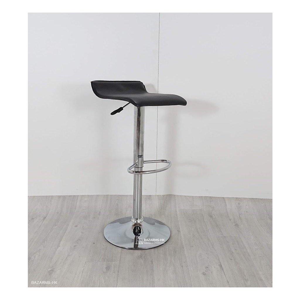 Černá barová židle Nero