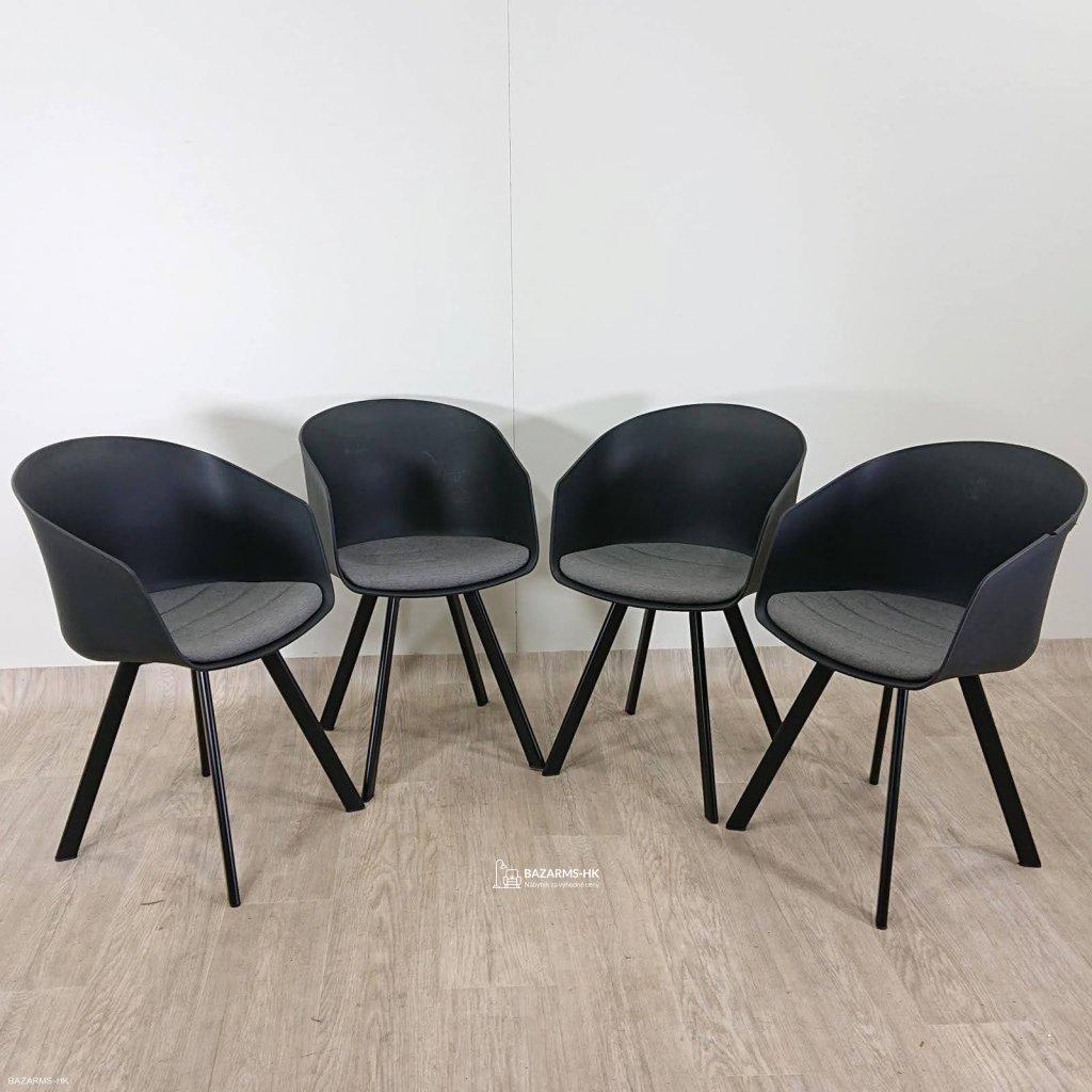 Černá jídelní židle Interstil Moon 20 (C
