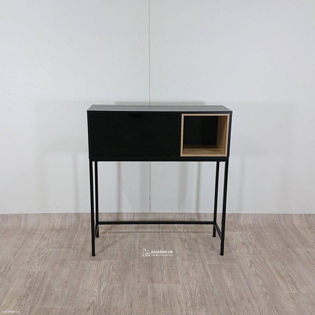 Černý konzolový stolek Actona Satley