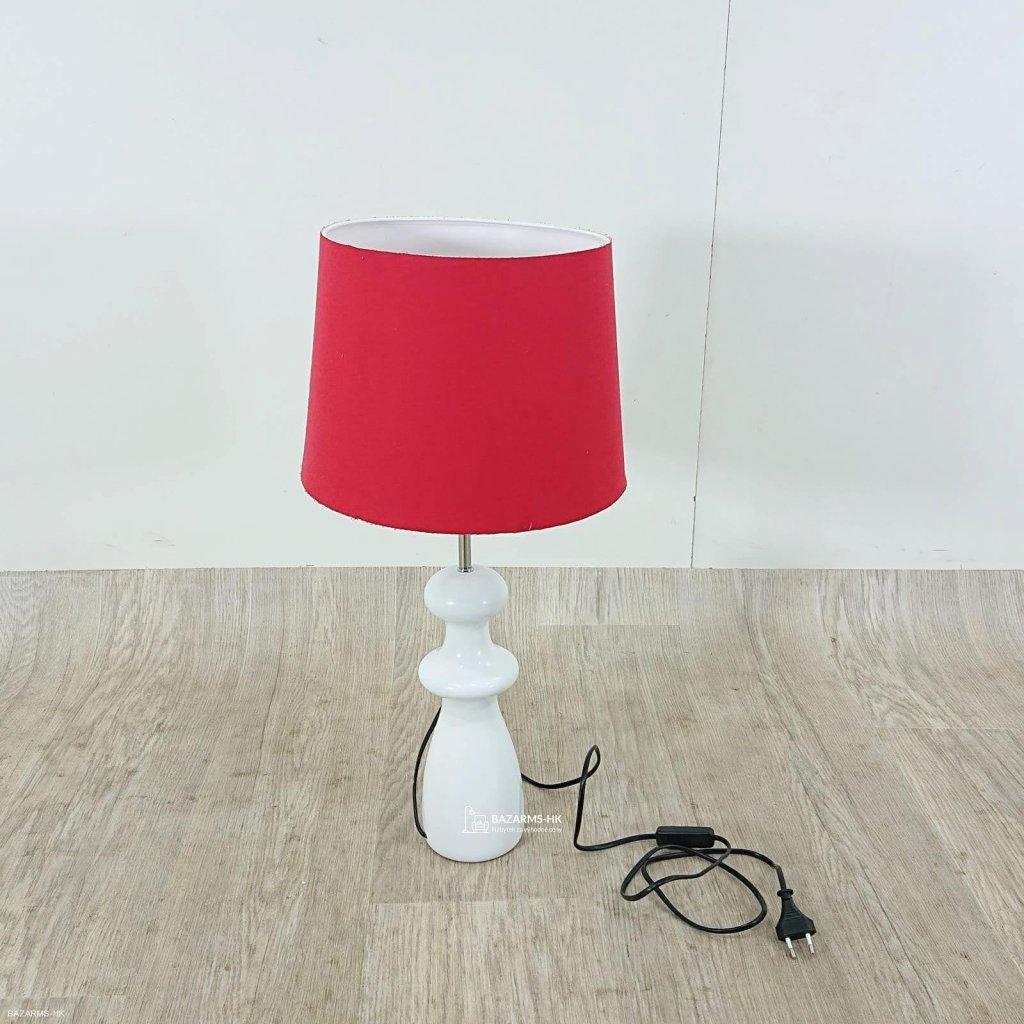 Červená dřevěná stolní lampa Opviq light