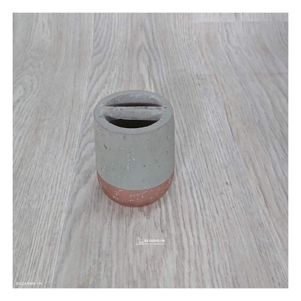 Držák na kartáčky Concrete Copper Kare D