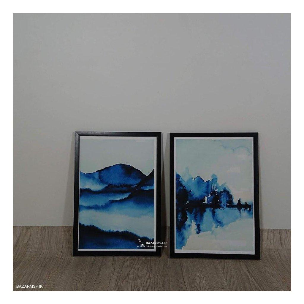 Dvoudílný obraz Alpha Wall